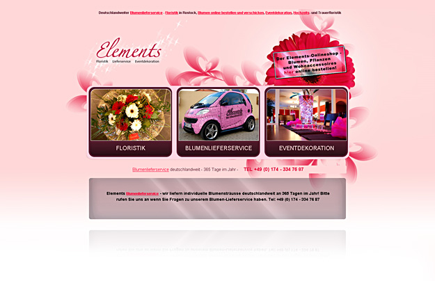 Business-Webdesign / Elements Floristik