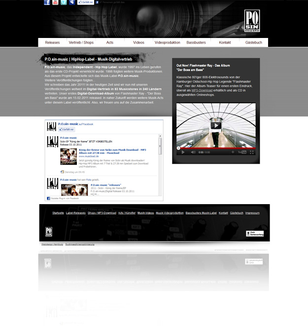 Business-Webdesign / Musiklabel Hamburg